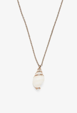 Pura Vida Electroplated Conch Necklace Rose Gold