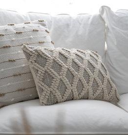 PD Home & Garden 12 X 20 Rectangle Pillow Black/Neutral