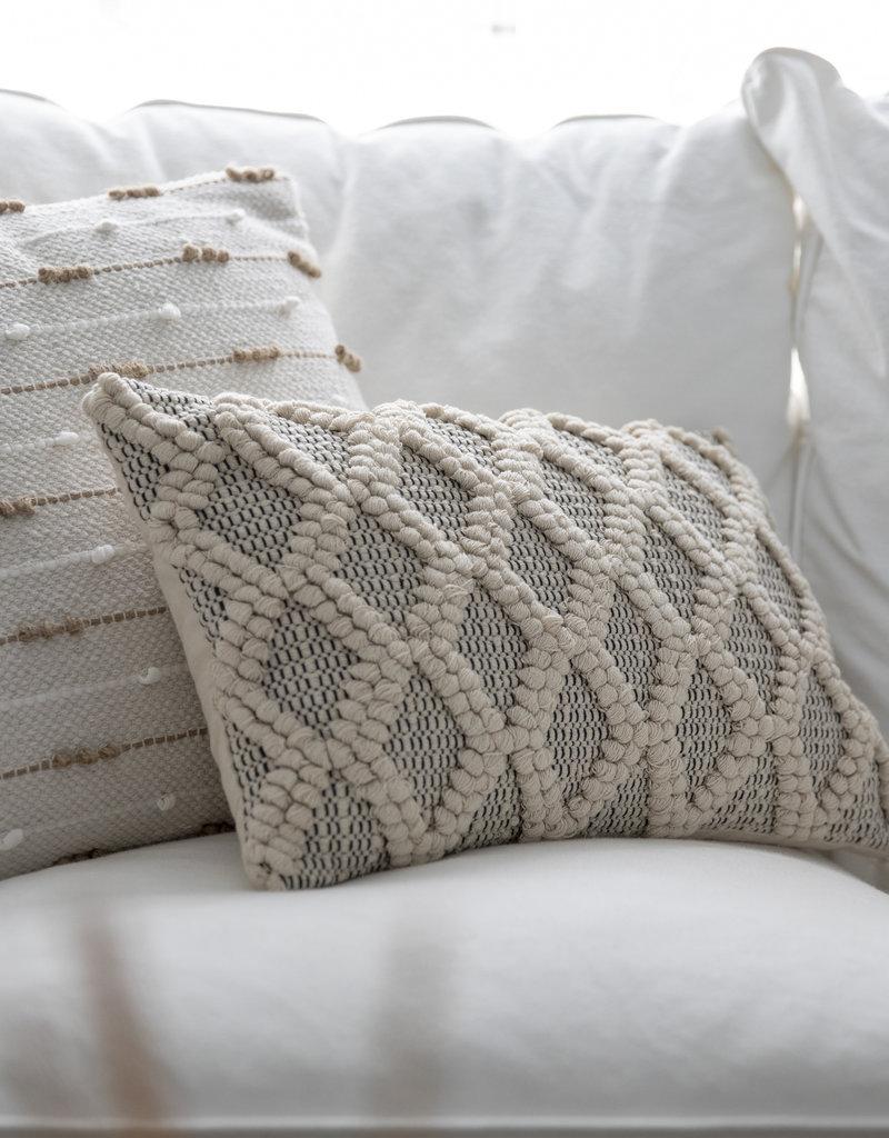 PD Home & Garden Rectangle Pillow Black/Neutral