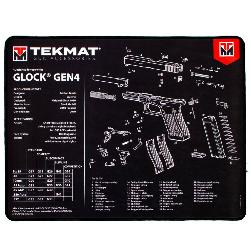 Tekmat Glock Ultra Premium Gun Cleaning Mat Saint Louis