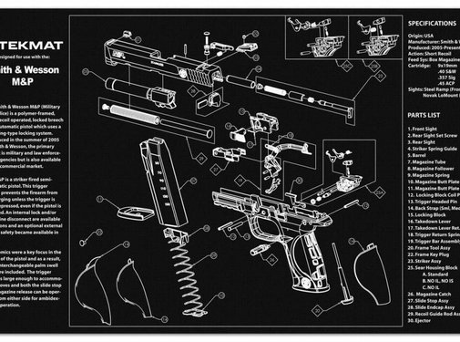 TekMat TekMat Smith & Wesson M&P Gun Cleaning Mat