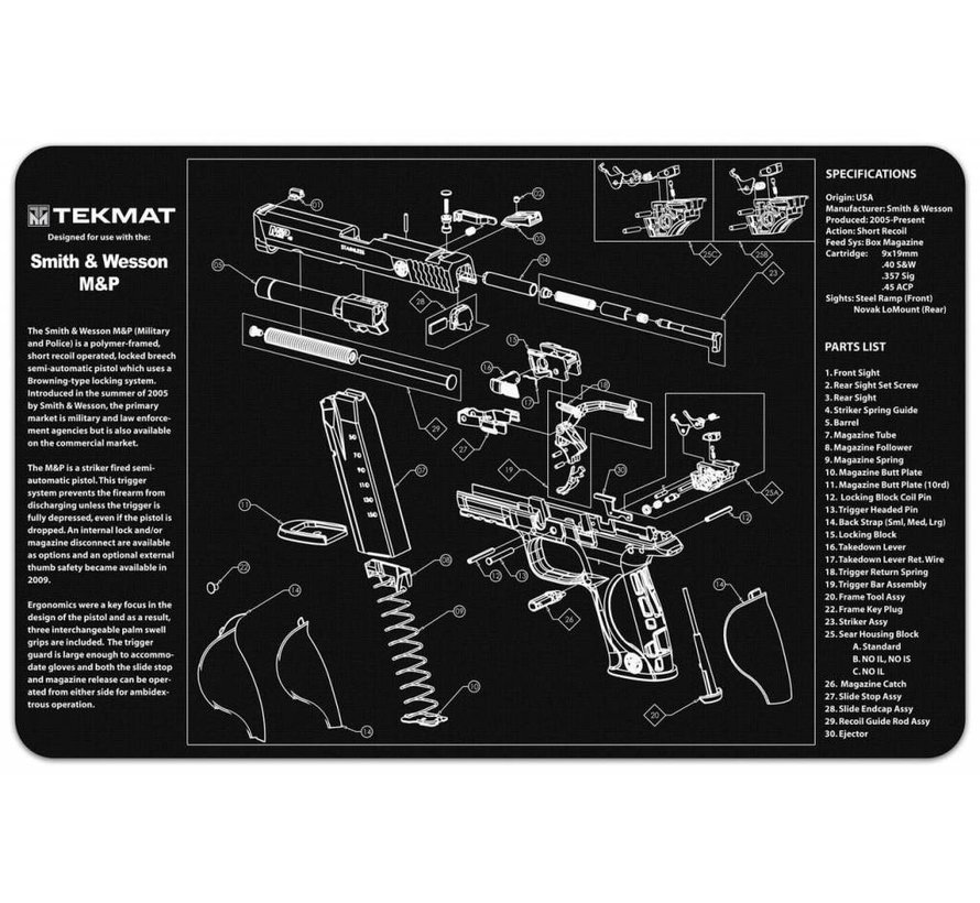 TekMat Smith & Wesson M&P Gun Cleaning Mat