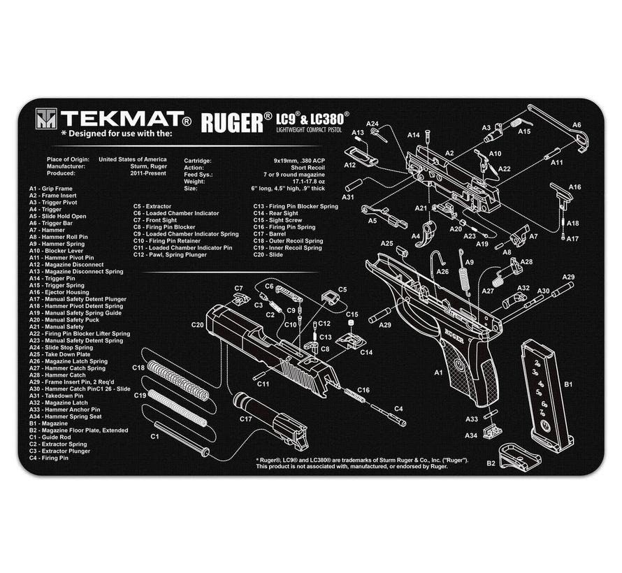 TekMat Ruger LC9 Gun Cleaning Mat