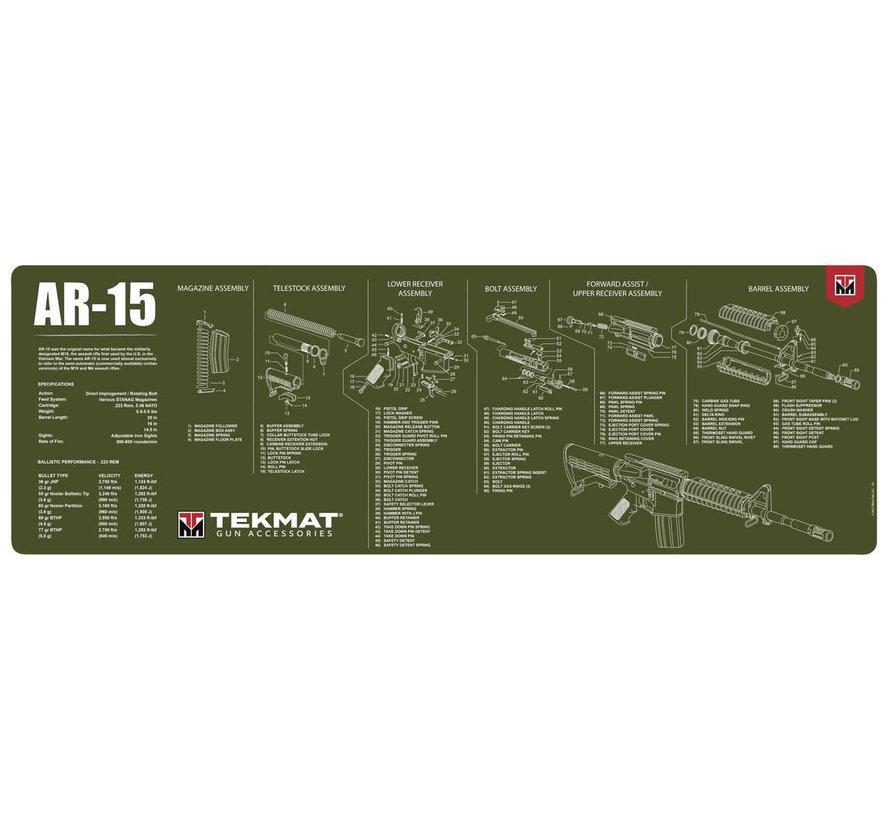 TekMat AR-15 Gun Cleaning Mat (Olive Drab)