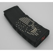 Amend2 Amend2 AR-15 30 Round Magazine (Black) | Etched Skull with Flag