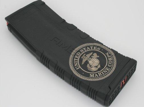 Amend2 Amend2 AR-15 30 Round Magazine (Black) | Etched Marine Corps