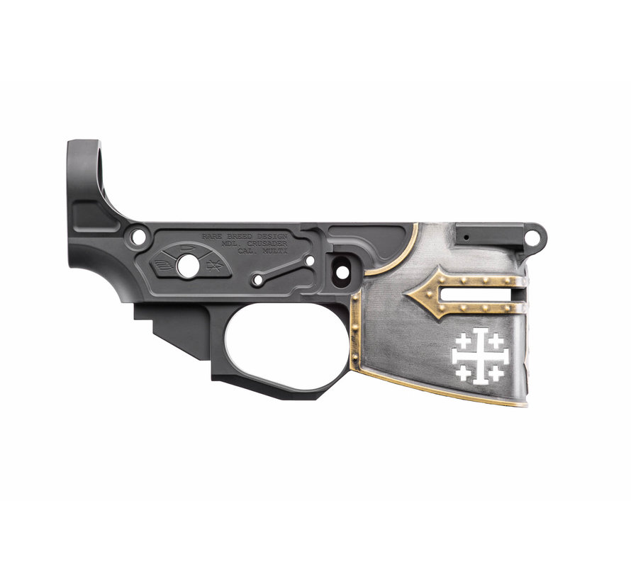 Spike's Tactical AR-15 Billet Lower | Rare Breed Crusader Painted CH00895