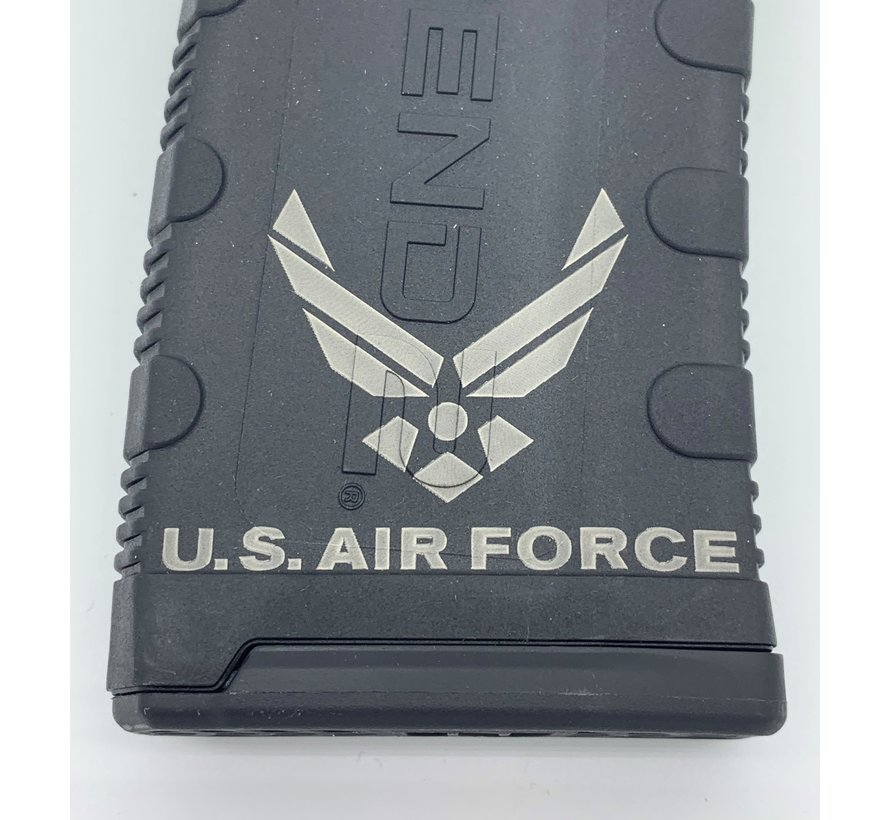 Amend2 AR-15 30 Round Magazine (Black) | Etched Air Force 2
