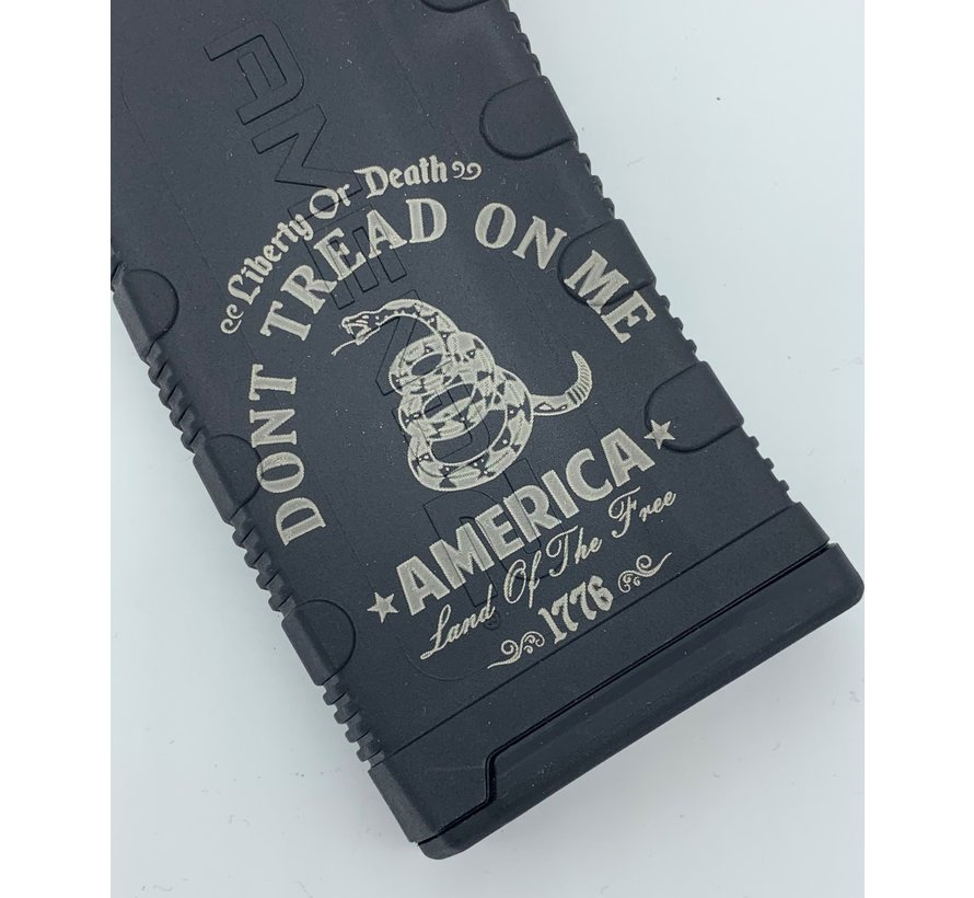 Amend2 AR-15 30 Round Magazine (Black) | Etched Don't Tread on Me