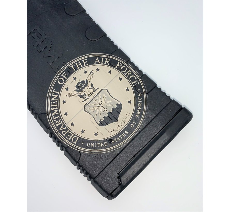 Amend2 AR-15 30 Round Magazine (Black) | Etched Air Force 1