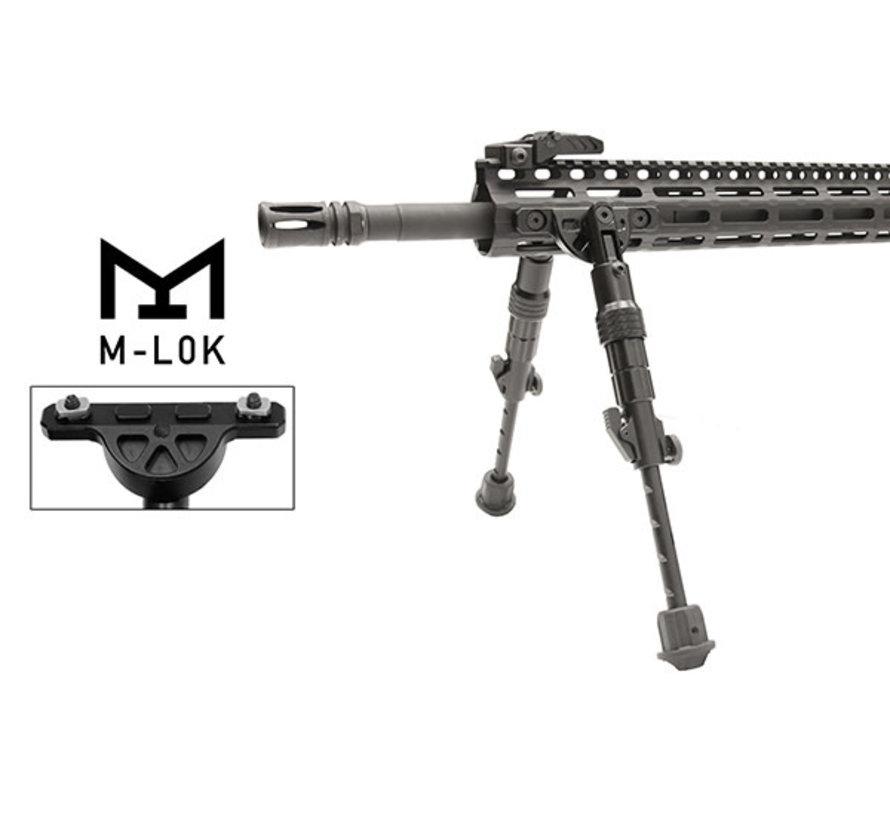 "UTG Recon Flex M-LOK Bipod | Matte Black | 5.7""-8"" Center Height"