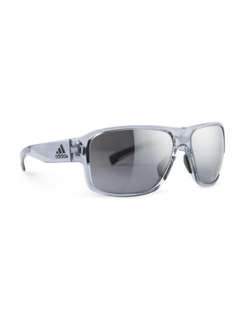 Adidas adidas Jaysor Sunglasses-Grey Transparent Shiny/Grey Chrome Mirror