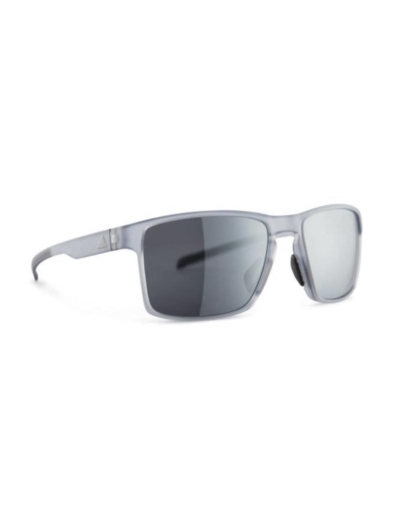 Adidas adidas Wayfinder Sunglasses-Crystal Grey/Chrome Mirror
