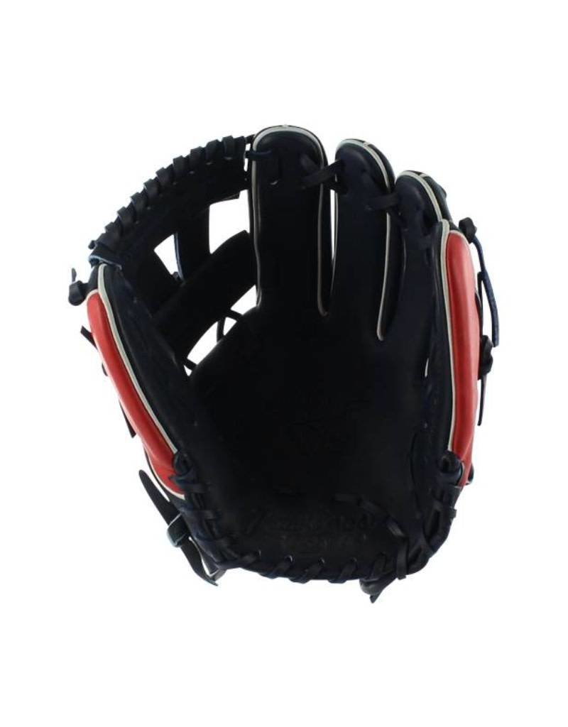 """Rawlings Rawlings Heart of Hide Pro 11.25"""" Infield Glove Navy/Red-Right Hand Throw"""