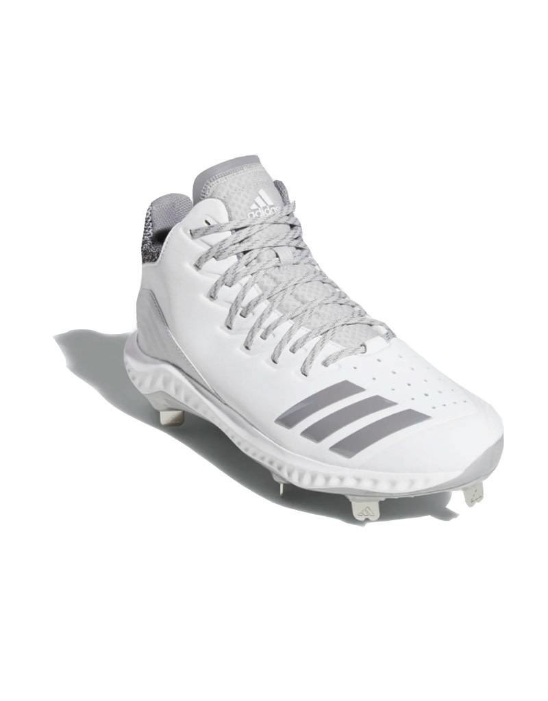 Adidas Adidas Icon Bounce Mid Baseball Cleat Cloud White/Grey Three/Grey Two