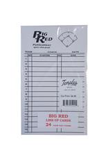 Big Red Baseball/Softball Line Up Cards (set 24)