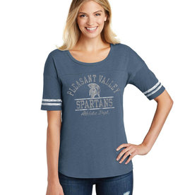 Rah-Rah Clothing Pleasant Valley Spartans Athletic Dept. Women's Scorecard Tee