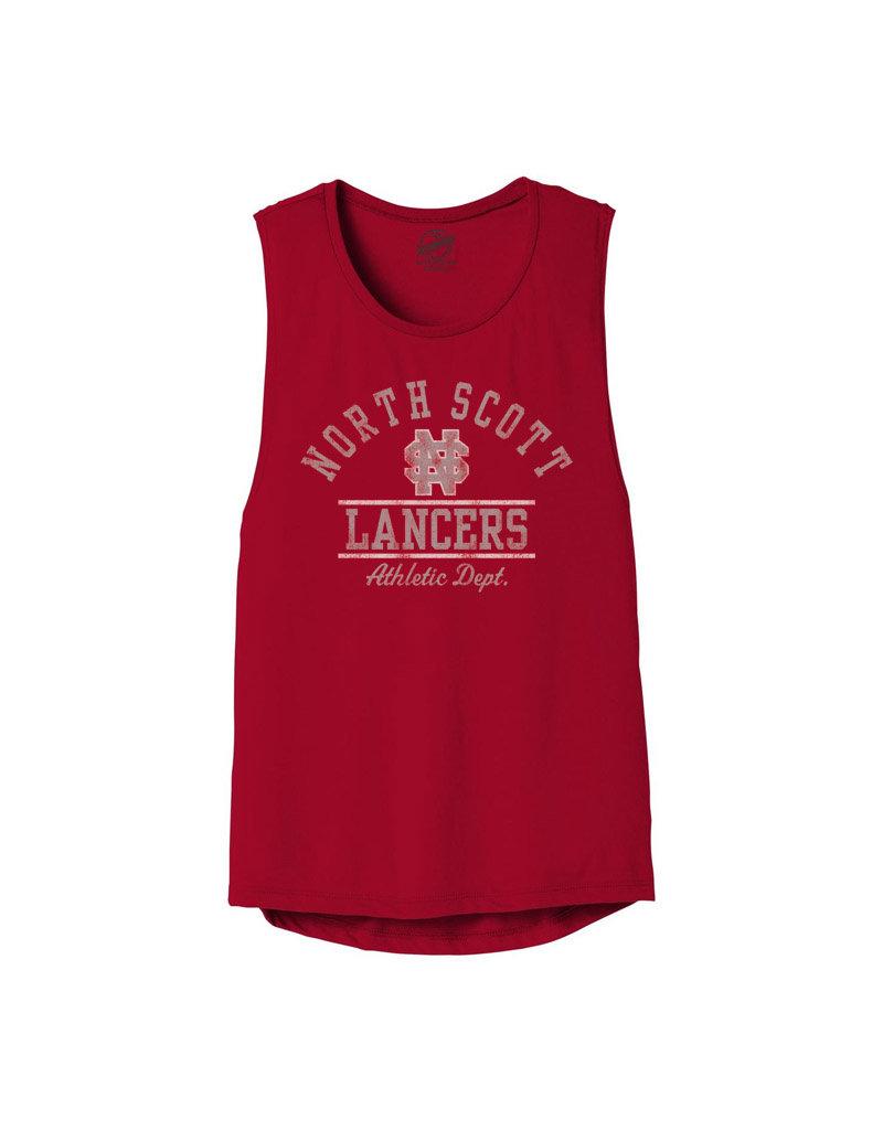Rah-Rah Clothing North Scott Lancers Athletics Women's Flowy Muscle Tank