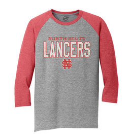 Rah-Rah Clothing North Scott Lancers Athletics Triblend 3/4 Sleeve Raglan Tee