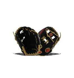 "Wilson A1000 Pedroia Fit 11.25"" baseball glove - right hand throw - Color: Black/Blonde"