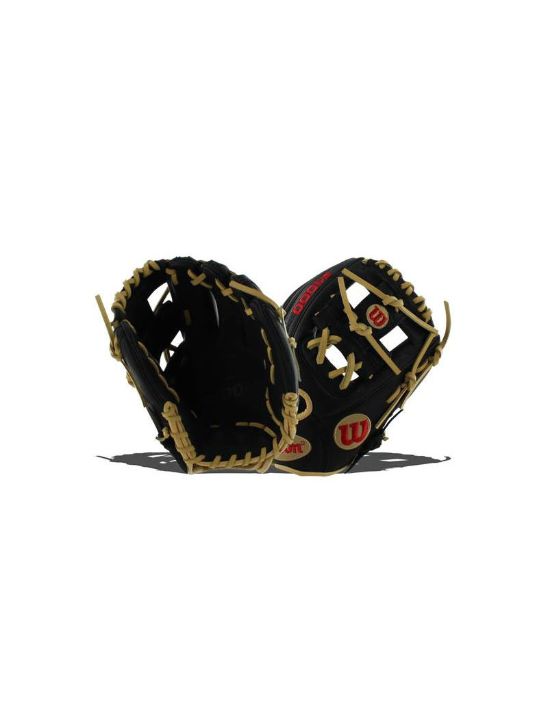 """Wilson A1000 Pedroia Fit 11.25"""" baseball glove - right hand throw - Color: Black/Blonde"""
