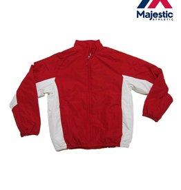 Majestic Majestic Therma Base Double Climate Jacket- Scarlet/White- Medium