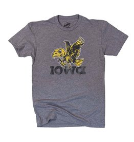 Rah-Rah Clothing Iowa Old School Bird Triblend Short Sleeve Tee