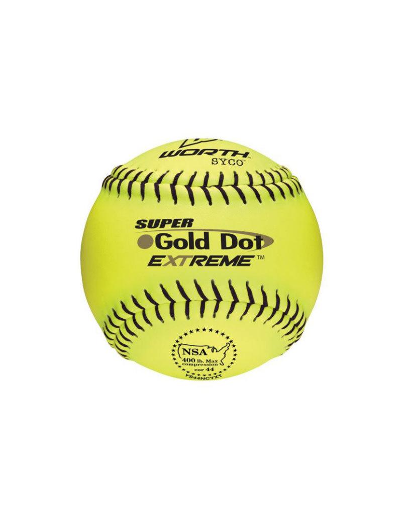 "Worth Worth 12"" Pro Tac Super Gold Dot Extreme Softball"