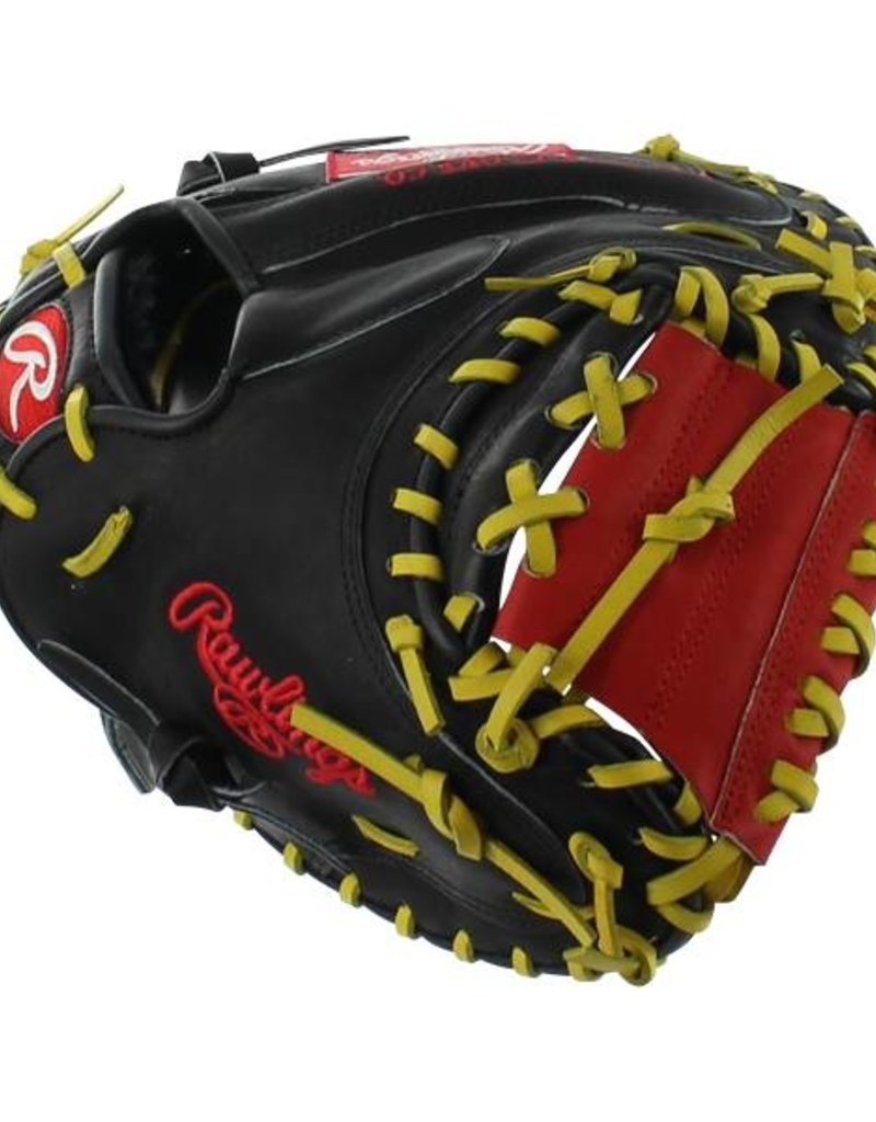 """Rawlings Rawlings Heart of the Hide Pro 32.5"""" Catchers Mitt Black/Red"""