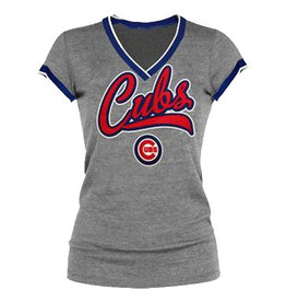 """Chicago Cubs  MLB """"daring attempt"""" T-shirt (charcoal heather)"""