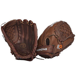 "Nokona Nokona Buckaroo Elite fastpitch softball 12.5"" fielders glove(reg Right Hand Throw) chocolate lace"