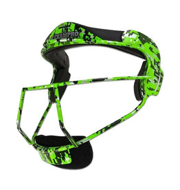 Champro Champro THE GRILL Defensive Fielders Facemask Lime Digital Camo