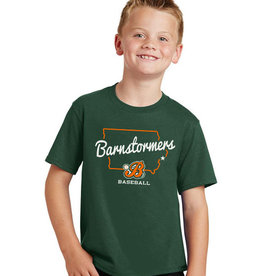 Rah-Rah Clothing Barnstormer Baseball YOUTH State of Iowa Soft Short Sleeve Tee-Forest Green