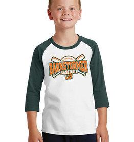 Rah-Rah Clothing Barnstormer Baseball YOUTH Core Blend 3/4 Sleeve Raglan Tee