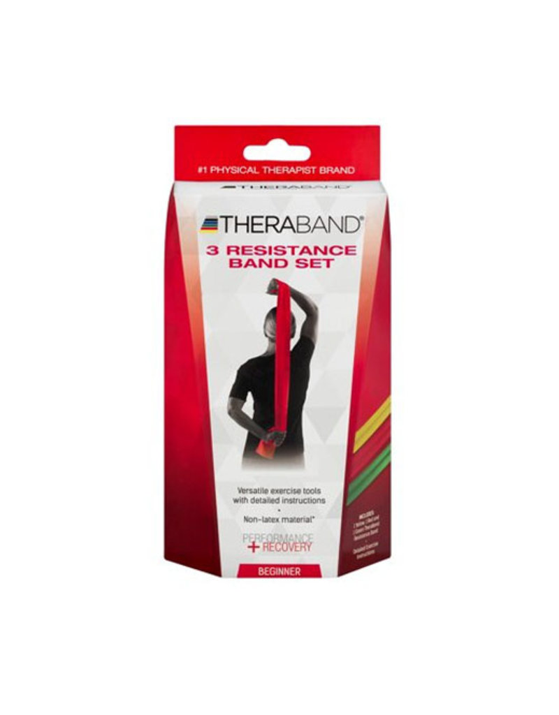 Theraband Latex Free Resistance Bands 3 Pack