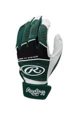 Rawlings Rawlings Tech-Style Adult Batting Gloves-Dark Green-Small