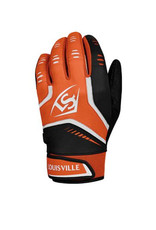 Louisville Slugger Louisville Slugger Adult Series 5 Batting Gloves-Orange-XL