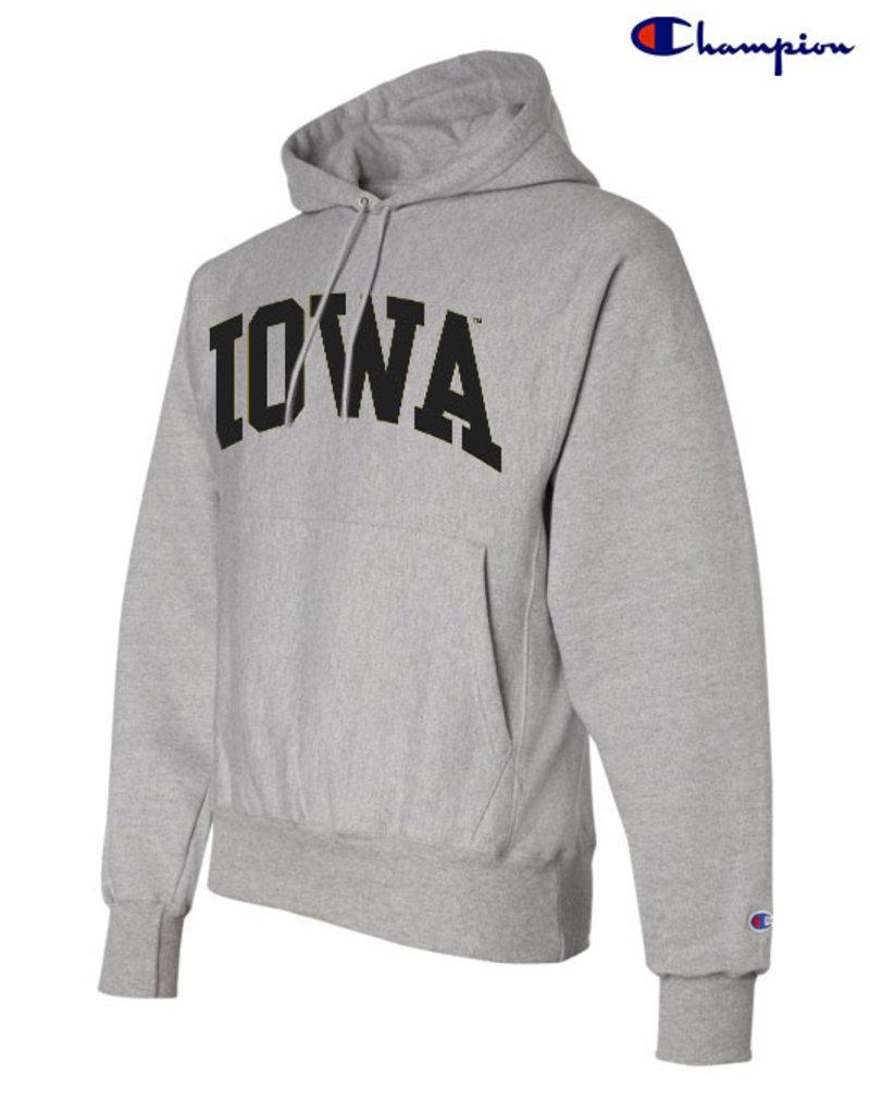 Champion Rah Rah Iowa Champion Reverse Weave Hooded Sweatshirt