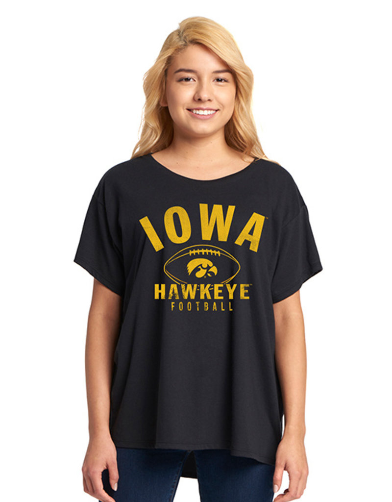 Rah-Rah Clothing Iowa Hawkeyes Football Ladies Flowy Tee