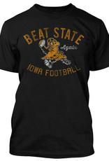 Rah-Rah Clothing Iowa Football-Beat State Again Short Sleeve Tee-Black