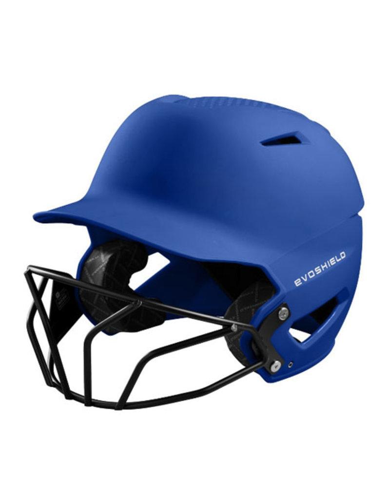 EvoShield Evo Shield XVT Batting Helmet with Softball Mask-Matte Finish