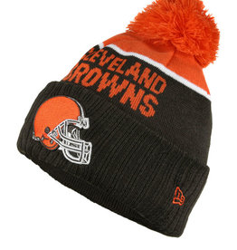 New Era New Era NFL Cold Weather Official Sport Knit Beanie Cleveland