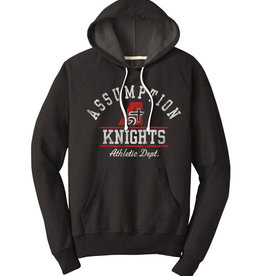 Rah-Rah Assumption Knights Athletic Dept. Triblend French Terry Hoodie-Black