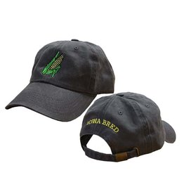Rah-Rah Clothing Iowa Bred Corn Cob Garment Washed Cap-Black