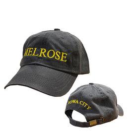 Rah-Rah Clothing Melrose Iowa City Garment Washed Cap-Black