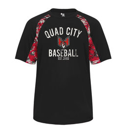 Badger Quad City Heat Baseball Digital Hook Tee-Black/Red