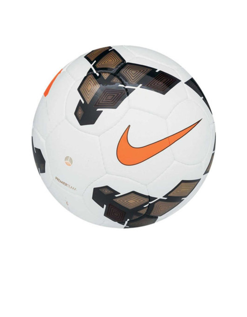 Nike Nike Club Team Soccer Ball- White/Gold/Total Orange Size 4