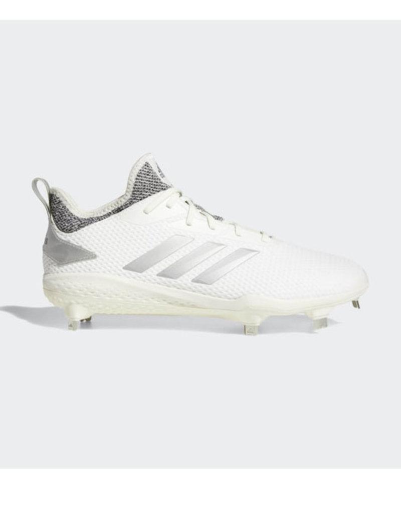 adidas all white baseball cleats
