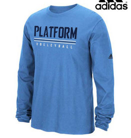 Adidas Platform Elite adidas Cotton Long Sleeve Tee-Light Blue