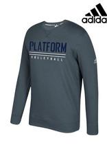 Adidas Platform Elite adidas Fleece Crewneck Sweatshirt-Onix